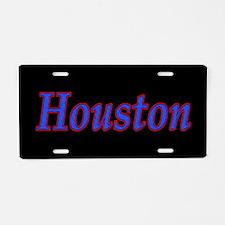 Houston Sports Aluminum License Plate