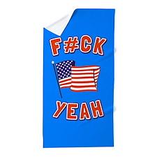 America F#ck Yeah Beach Towel