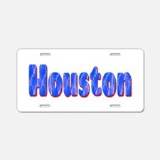 Houston Lightning Aluminum License Plate