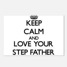 Keep Calm and Love your Step-Father Postcards (Pac