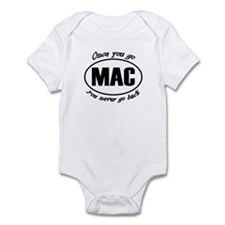 Once You Go Mac You Never Go Back Infant Bodysuit
