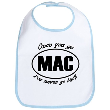 Once You Go Mac You Never Go Back Bib