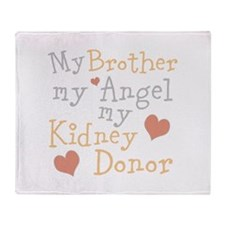 Personalize Kidney Donor Throw Blanket