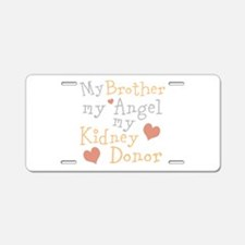 Personalize Kidney Donor Aluminum License Plate