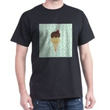 Ice Cream on Teal and Cream T-Shirt