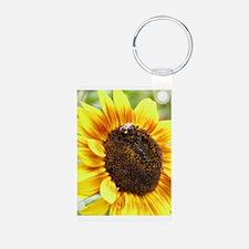 Bee on Sunflower Keychains