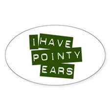 Pointy Ears Oval Decal