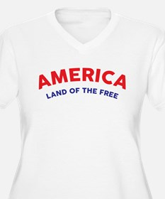 America Land of the Free Plus Size T-Shirt