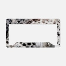 Snow Leopard License Plate Holder