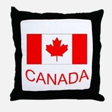 Canada flag and country name. Canada Day. Throw Pi