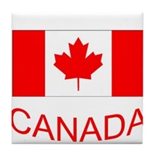 Canada flag and country name. Canada Day. Tile Coa
