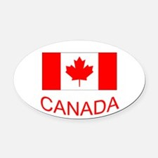 Canada flag and country name. Canada Day. Oval Car
