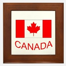 Canada flag and country name. Canada Day. Framed T
