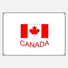 Canada flag and country name. Canada Day. Banner