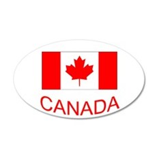 Canada flag and country name. Canada Day. Decal Wa