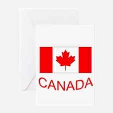 Canada flag and country name. Canada Day. Greeting