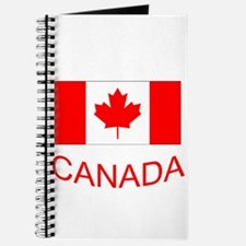 Canada flag and country name. Canada Day. Journal