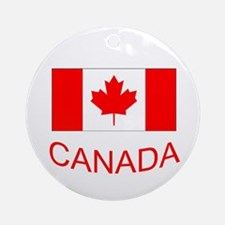 Canada flag and country name. Canada Day. Ornament