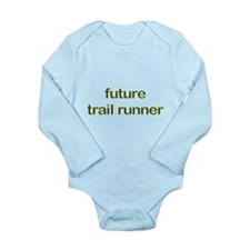 Future Trailrun Yellow Long Sleeve Infant Bodysuit