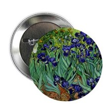 "van gogh irises, st. remy 2.25"" Button"