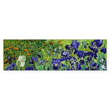 van gogh irises, st. remy Bumper Bumper Sticker