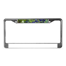 van gogh irises, st. remy License Plate Frame