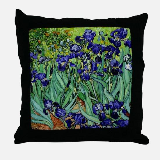 van gogh irises, st. remy Throw Pillow