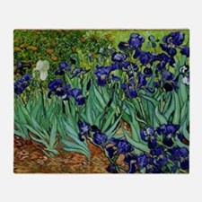 van gogh irises, st. remy Throw Blanket