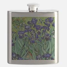 van gogh irises, st. remy Flask