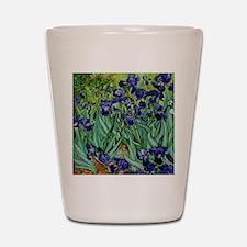 van gogh irises, st. remy Shot Glass