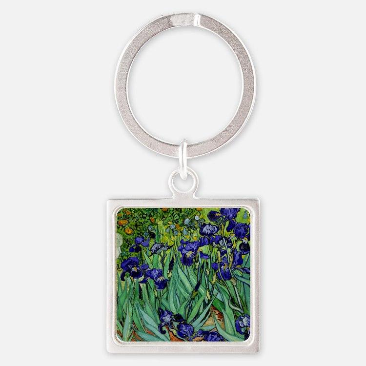 van gogh irises, st. remy Keychains