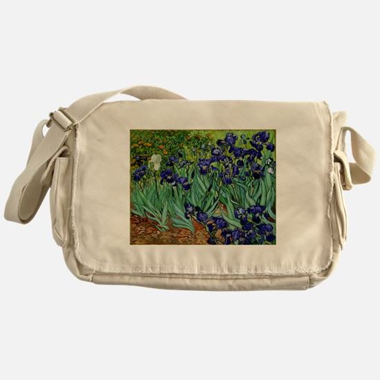 van gogh irises, st. remy Messenger Bag