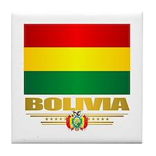 Flag of Bolivia Tile Coaster