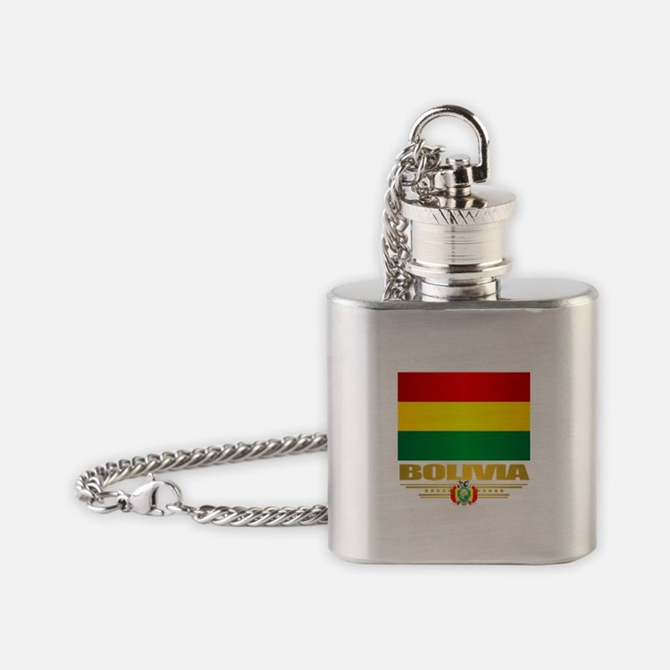 Flag of Bolivia Flask Necklace