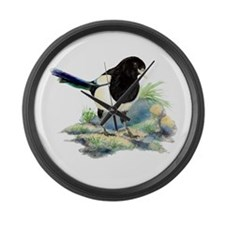magpie3 Large Wall Clock