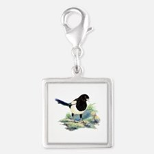 Watercolor Curious Magpie Bird Nature Art Charms