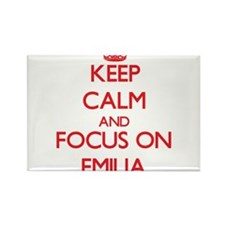 Keep Calm and focus on Emilia Magnets