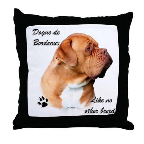 Dogue Breed Throw Pillow