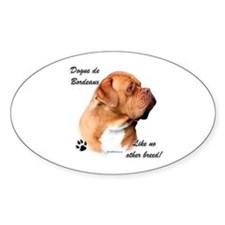 Dogue Breed Oval Decal