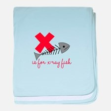 X Is For X-Ray Fish baby blanket
