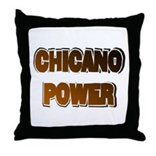 Chicano Power AdLib Throw Pillow