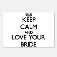 Keep Calm and Love your Bride Postcards (Package o