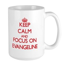 Keep Calm and focus on Evangeline Mugs