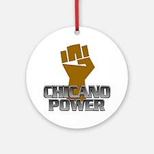 Chicano Power Fist Ornament (Round)