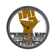 Chicano Power Fist Wall Clock