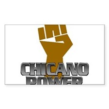 Chicano Power Fist Rectangle Decal