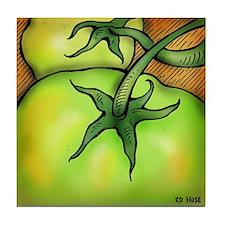 Green Tomato Tile Coaster