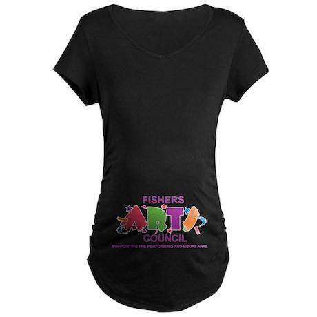 Fishers Arts Council Maternity Dark T-Shirt