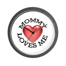 Mommy Loves Me Wall Clock