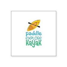 Paddle Explore Kayak Sticker